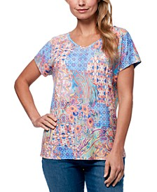 Women's Opal Exotic Patchwork T-shirt
