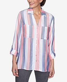 Women's Missy Vertical Stripe Top