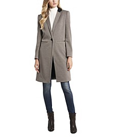 Notch Collar Heritage Check Topper Coat