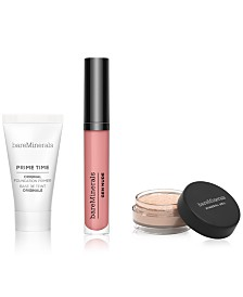 3-Pc. Primer, Finishing Powder & Lip Lacquer Gift Set