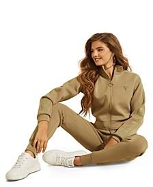 Graphic Zip-Front Scuba Jacket