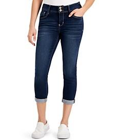 Juniors' Slim-Fit Cuffed Cropped Jeans