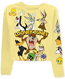 Juniors' Bugs Bunny Looney Tunes Long-Sleeved Graphic T-Shirt