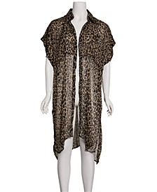 Leopard Trench Poncho