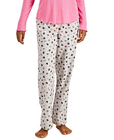Jenni Printed Cotton Flannel Pajama Pants, Created for Macy's