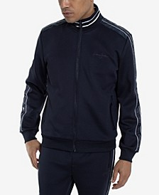 Logo Taping Neoprene Men's  Track Jacket
