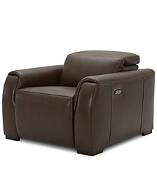Dallon Leather Power Recliner, Created for Macy's