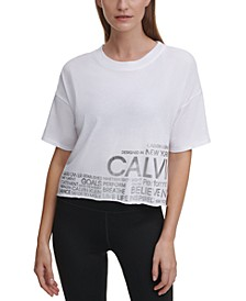 Cropped Raw-Hem Logo T-Shirt