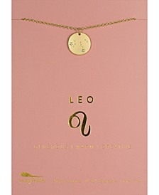 Zodiac Gold-Tone Charm Necklace, Leo