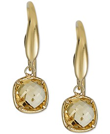 Citrine Drop Earrings (1-5/8 ct. t.w.) in 14k Gold-Plated Sterling Silver