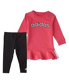 Baby Girls Long Sleeve Varsity Dress & Tight Set