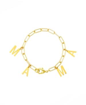 Mama Dangle Paper Clip Chain Bracelet
