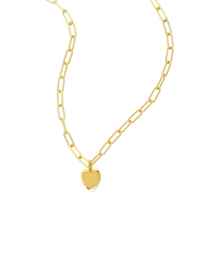 Paperclip Chain Necklace with Heart