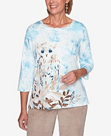 Women's Plus Size Dover Cliffs Snowy Owl Top
