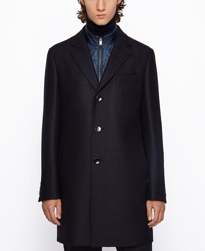 Hugo Boss - Men's Nadim4 Slim-Fit Coat