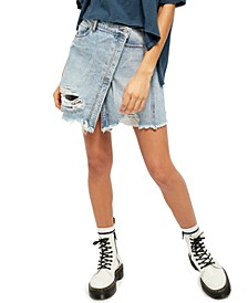 Parker Wrap Denim Mini Skirt