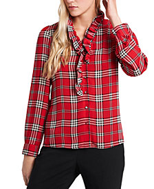 Riley & Rae Piper Ruffle-Collar Blouse, Created for Macy's
