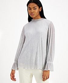 Metallic Ruffle-Neck Top, Created for Macy's