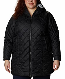 Plus Size Long Copper Crest Quilted Jacket