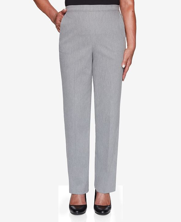 Alfred Dunner Women's Plus Size Glacier Lake Peach Sateen Proportioned Pant