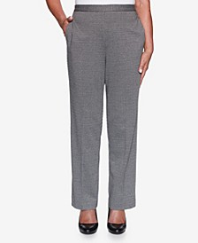 Women's Plus Size Knightsbridge Station Houndstooth Knit Proportioned Pant