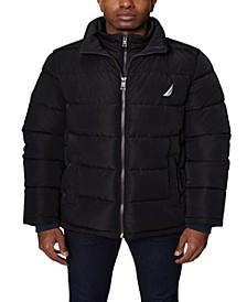 Men's Puffer with Bib Insert Jacket