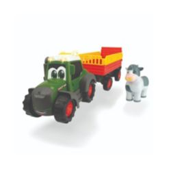 Dickie Toys Happy Fendt Tractor with Animal Trailer