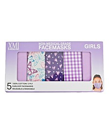 Kids Boxed Fashionable Face Mask, Pack of 5