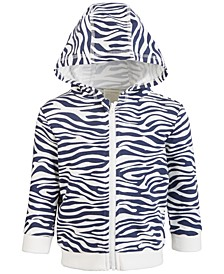 Baby Boys Zebra Hoodie, Created for Macy's