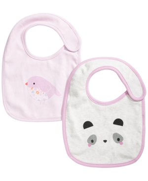 First Impressions Baby Girls Panda Bib Set, Created For Macy's In Orchid Fairy