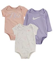 Baby Girls Bodysuit 3-Pack
