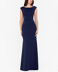 Petite Sequined Evening Gown