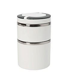 Tier Round Twist Stainless Steel Insulated Lunch Box
