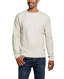 Men's Patchwork Crew Neck Sweater