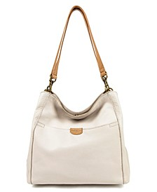 Austin Triple Entry Leather Bucket Bag
