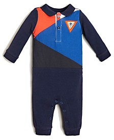 Baby Boys Color Block Coverall