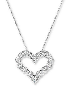 Diamond Heart Pendant Necklace (2 ct. t.w.) in 14k White Gold