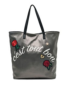 Reversible Embroidery Tote Bag