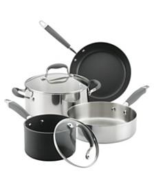 Advanced 6-Pc. Mixed Metals Cookware Set