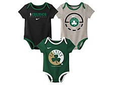 Baby 3-Pk. Boston Celtics Practice Bodysuits