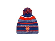New York Mets Striped Marled Knit