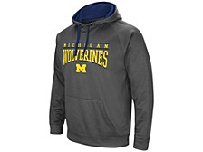 Michigan Wolverines Men's Poly Performance Hooded Sweatshirt