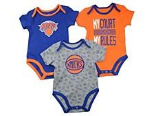 Baby 3-Pk. New York Knicks Cotton Trifecta Bodysuits