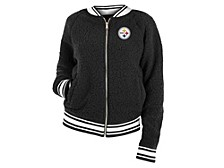 Pittsburgh Steelers Women's Sherpa Bomber Jacket