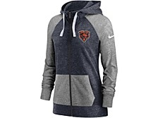 Chicago Bears Women's Gym Vintage Full Zip Hoodie