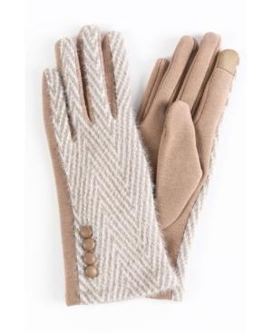 Women's Eyelash Herringbone Touchscreen Glove