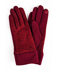 Women's Marled Knit Jersey Touchscreen Glove