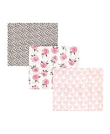 Baby Girls Cotton Muslin Swaddle Blankets