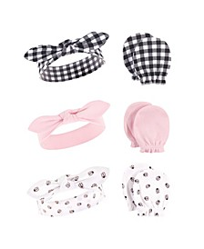 Girls Cotton Headband and Scratch Mitten Set