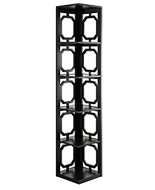 Omega 5 Tier Corner Bookcase